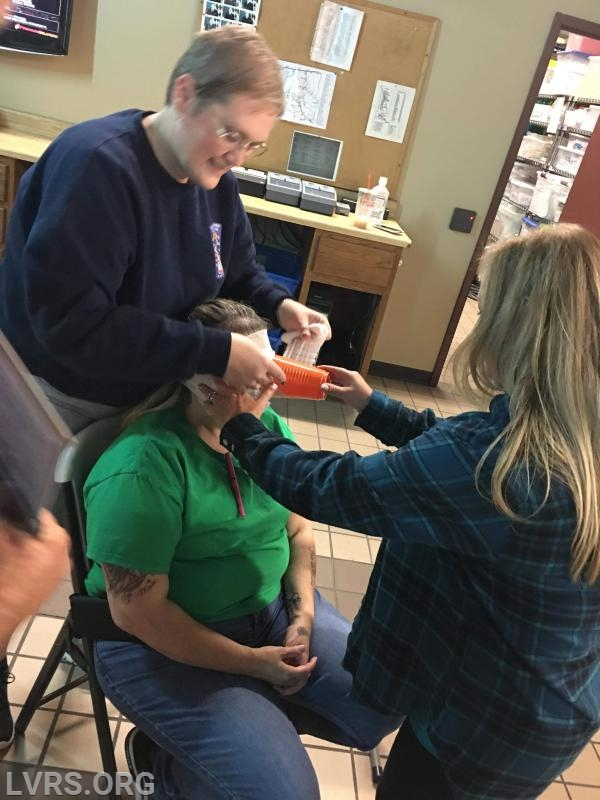 Melissa Persianni getting a new make over.